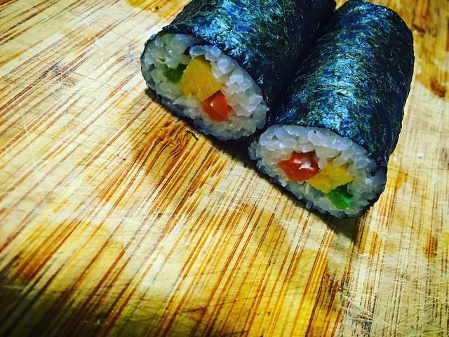 Makizushi con alga nori