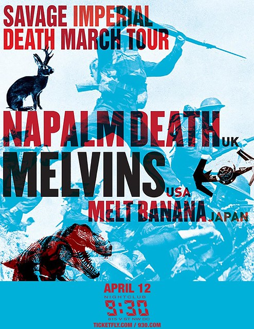 Napalm Death and the Melvins at the 9:30 Club