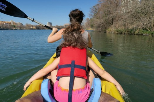 We FINALLY took Anais out on our kayak and it was a magical morning on GORGEOUS day