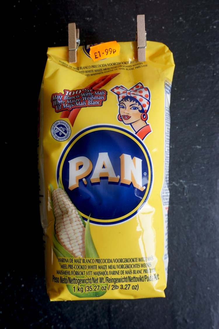 Gluten free pre-cooked white cornmeal - P.A.N. - gluten free arepas