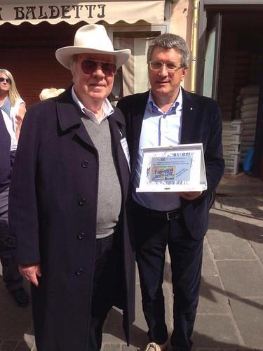 Il Sindaco Flavio Gabbarini con Dino Orsolini, membro del direttivo SS Lazio Automobilismo