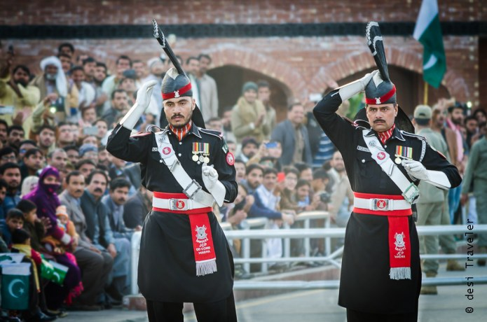 Pakistani Rangers at JCP Wagah Border Parade