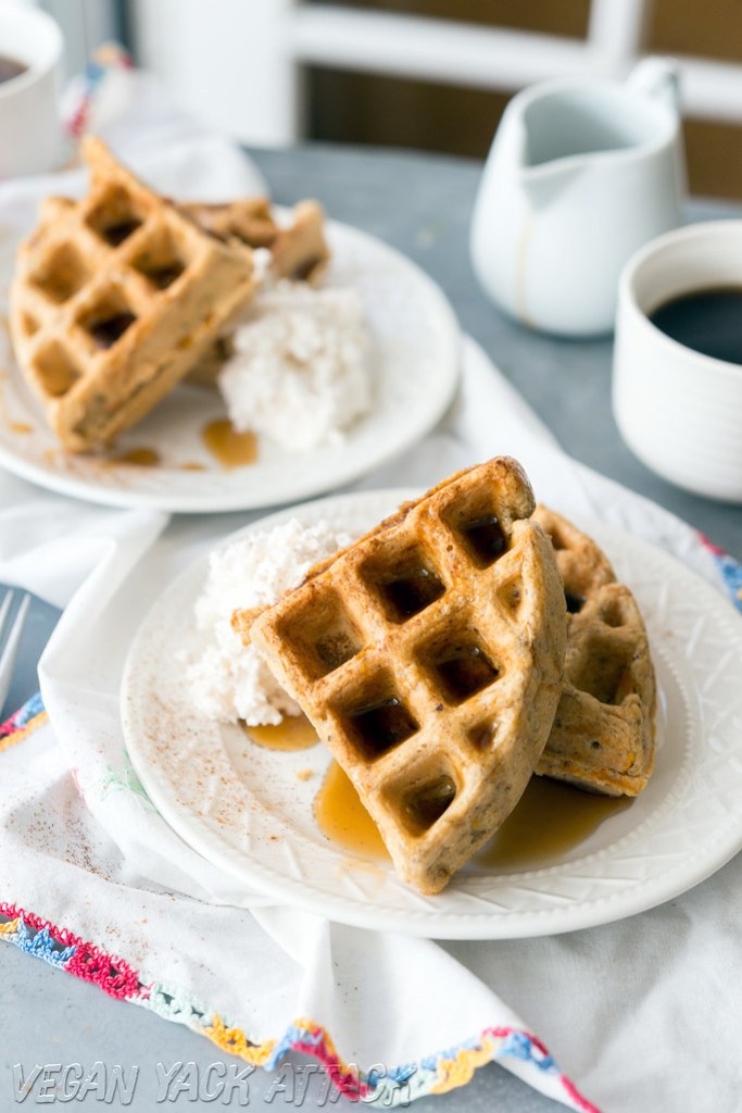 Vegan Carrot Waffles from The Love & Lemons Cookbook- Quick, easy and a crowd-pleaser! Vegan Carrot Waffles from The Love & Lemons Cookbook- Quick, easy and a crowd-pleaser!