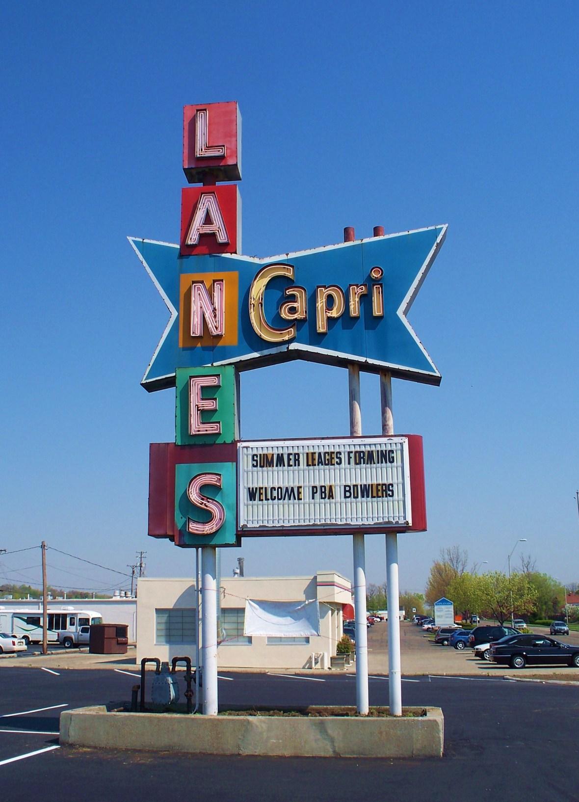 Capri Lanes - 2727 South Dixie Drive, Dayton, Ohio U.S.A. - April 15, 2010