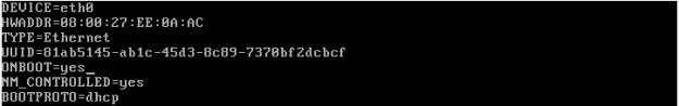 IFCFG-ETH0 네트워크 카드 설정값 수정