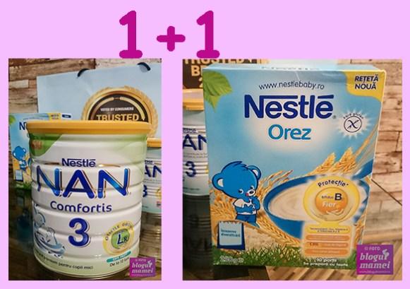 lapte praf nan 3 și cereale nestle