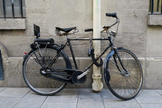 The beautiful classic bicycle that was always locked outside our door