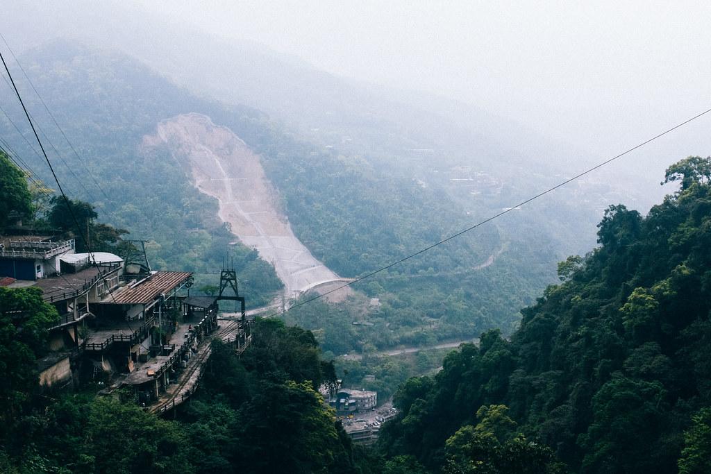 La telecabina ofrece unas vistas únicas de Wulai y el valle