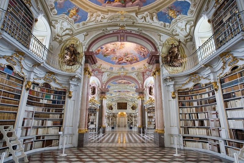 Admont Abbey Library, Austria. Image credit Jorge Royan.