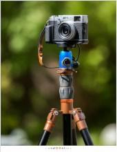 Camera en statief in de juiste verhoudingen