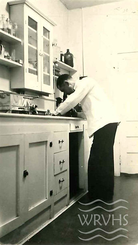 Dr. Threadgill in his office area. Photo from the Martha Davis Barber Collection