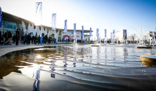 Fira Barcelona, Cataluña, España, sede del Mobile Word Congress. La capital de la innovación tecnológica.