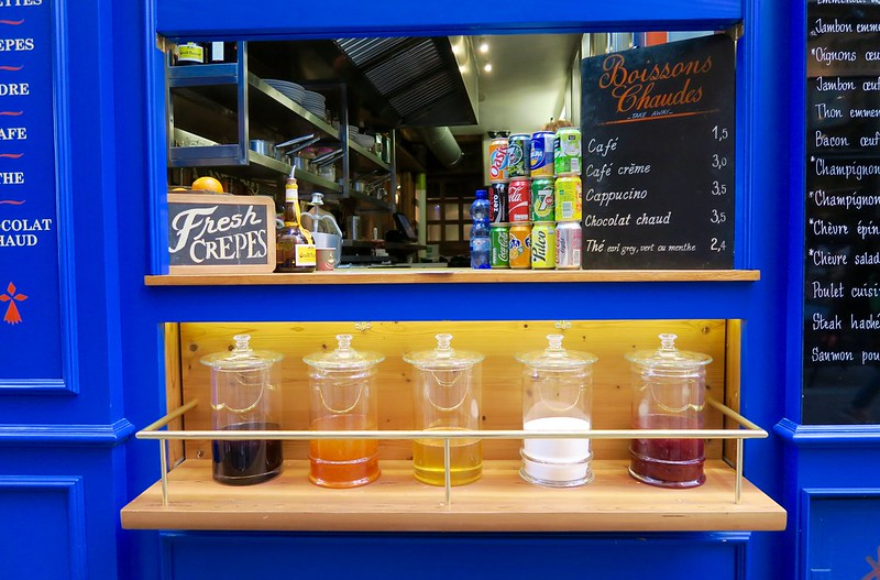 colorful juice window