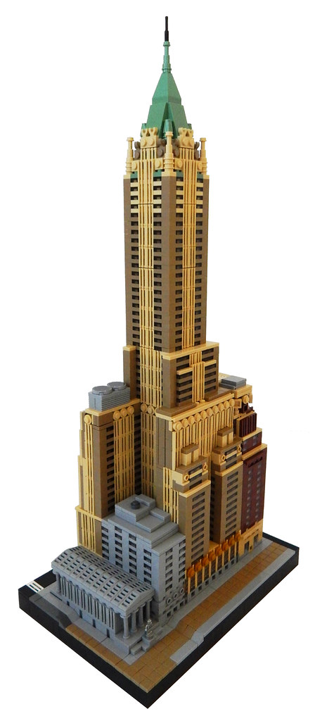 The Brothers Brick40 Wall St built with LEGO trumps the real thing