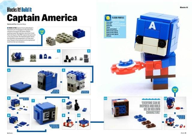 Captain America Blockhead BLOCKS