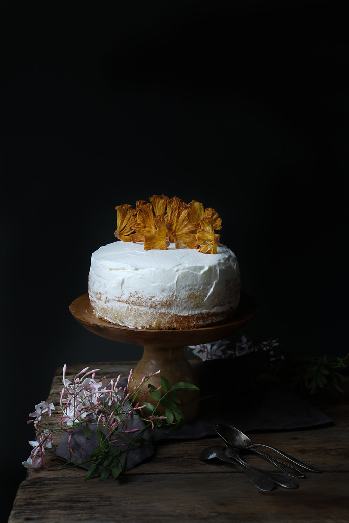 Pineapple-Coconut Honey Syrup Cake |foodfashionparty|