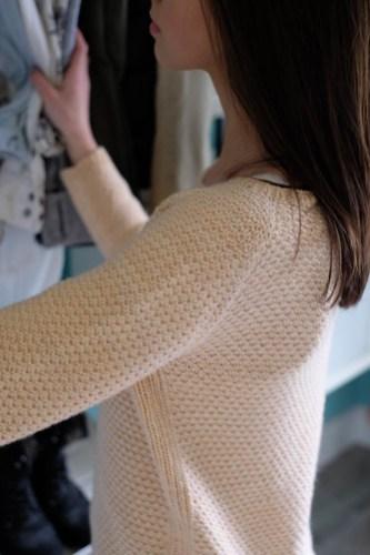Blush Sleeve & Side Ribbing