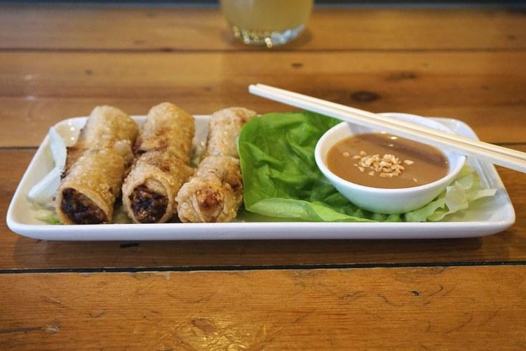 Fried crispy pork spring rolls from Pho
