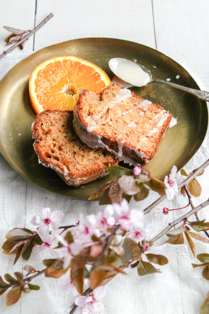 Cake à l'orange à l'huile d'olive {sans lait}