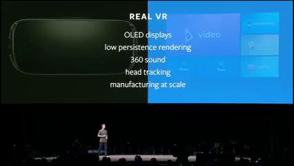 Mark explicó a los periodistas presentes de tecnología, los requisitos necesarios para una realidad virtual verdadera.