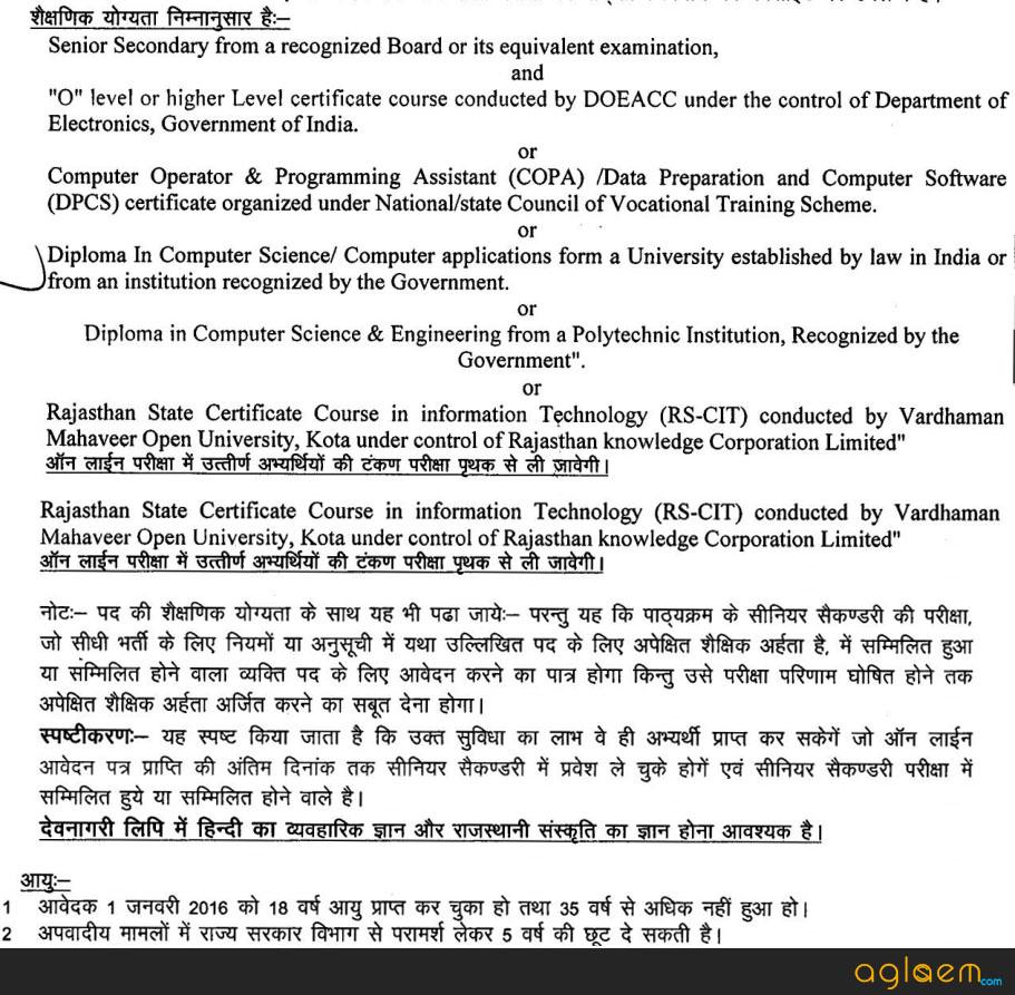 Rajasthan Clerk Govt Jobs