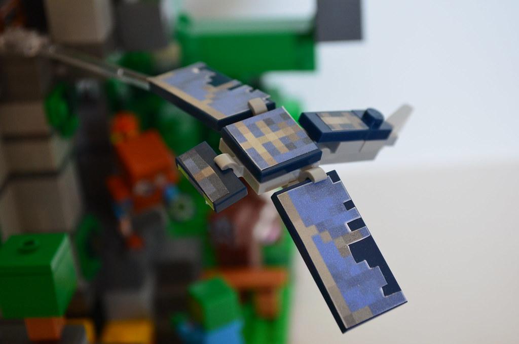 Lego Minecraft MOC Elytra Tower The Phantom Mob With