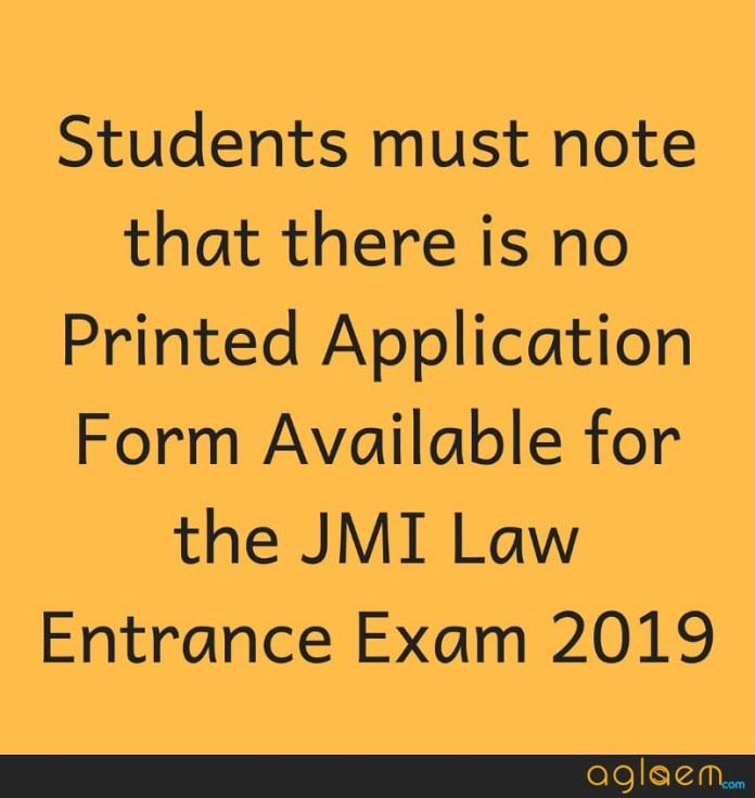 JMI Law Entrance Exam 2019 Application Form  %Post Title | AglaSem