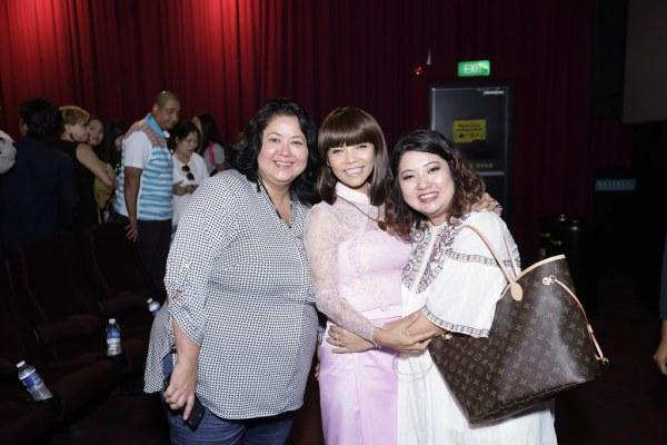 Mona Strassburger, Christina Kyi and a friend. (Credit: Golden Village)