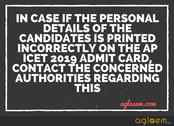 AP ICET 2019 Hall Ticket