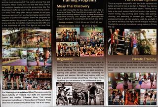 Brochure Por Silaphai Thai Boxing Gym Chiang Mai Thailand 2