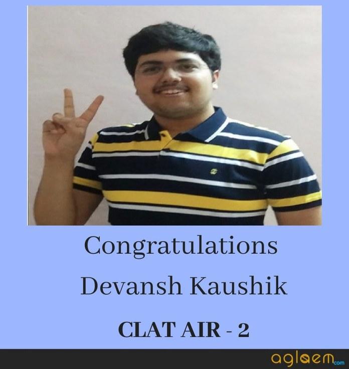 CLAT 2018 Topper Devansh Kaushik (AIR 2) Shares his Success Story and Mantra  %Post Title | AglaSem