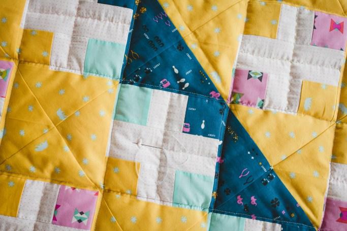 Baby girl's quilt in progress