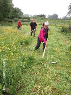 scything course in Cumbria