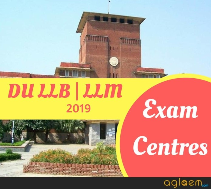 DU LLB | LLM 2019 Admit Card