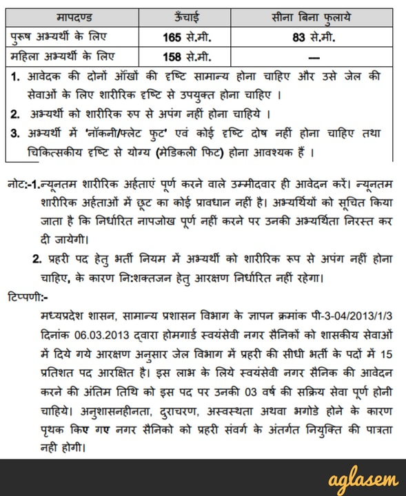 MP Jail Prahari Recruitment 2018