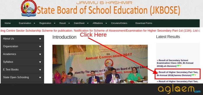 JKBOSE 12th Part Two Bi-Annual Result 2018 (Jammu Division)