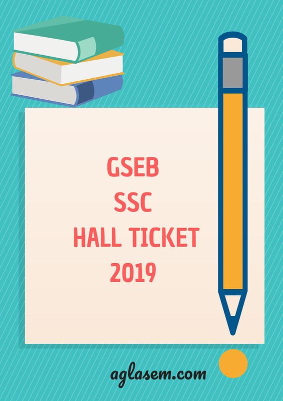 GSEB SSC Hall Ticket 2019