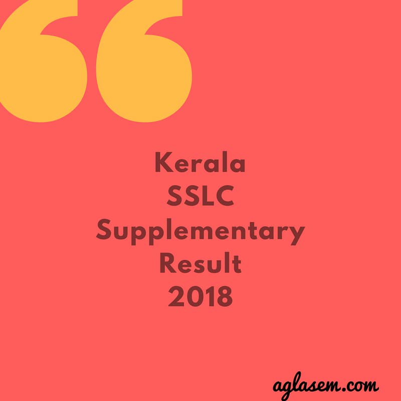 Kerala SSLC Supplementary Result 2018