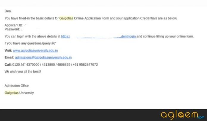 Galgotias University Law Application Form 2019  %Post Title | AglaSem