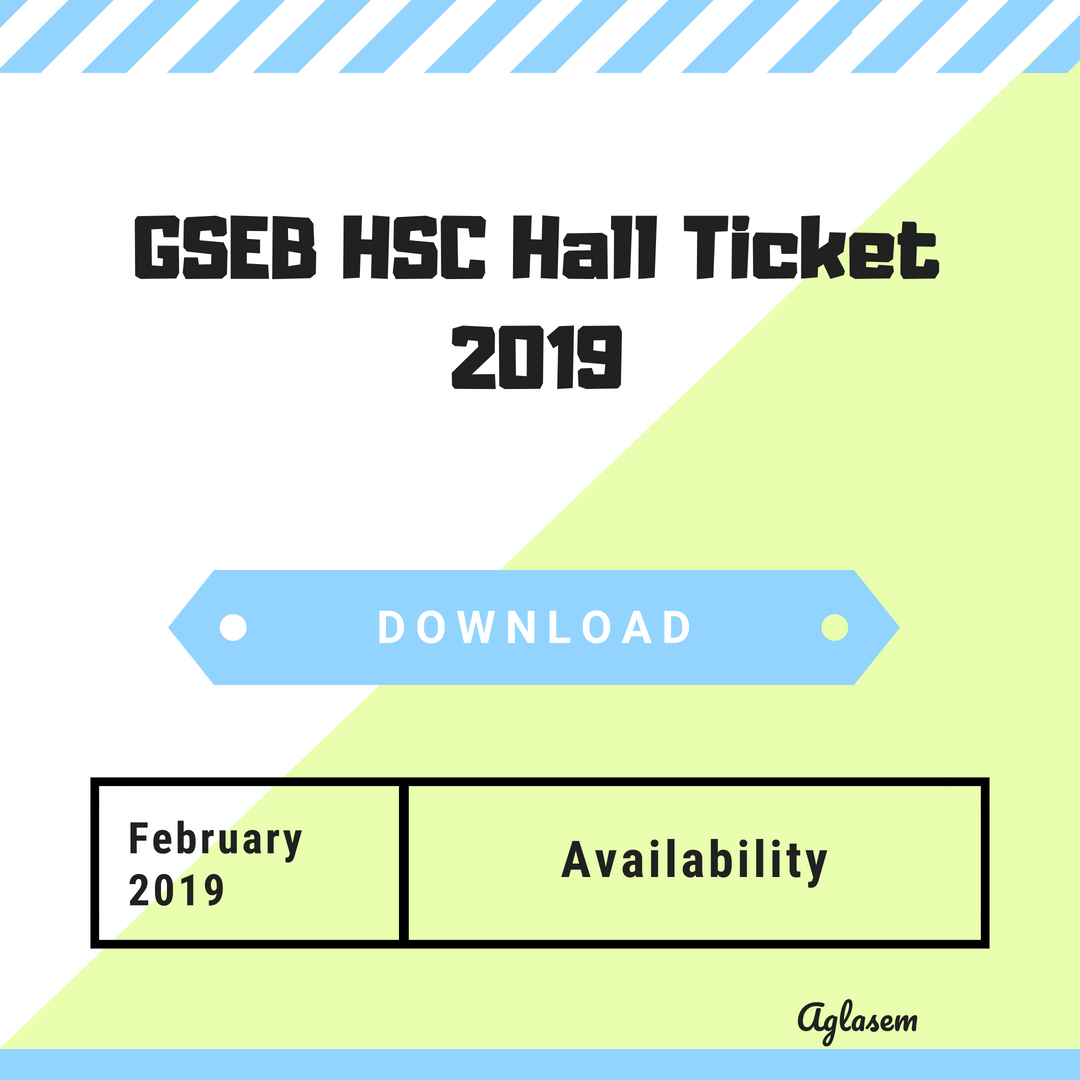 GSEB HSC Hall Ticket 2019