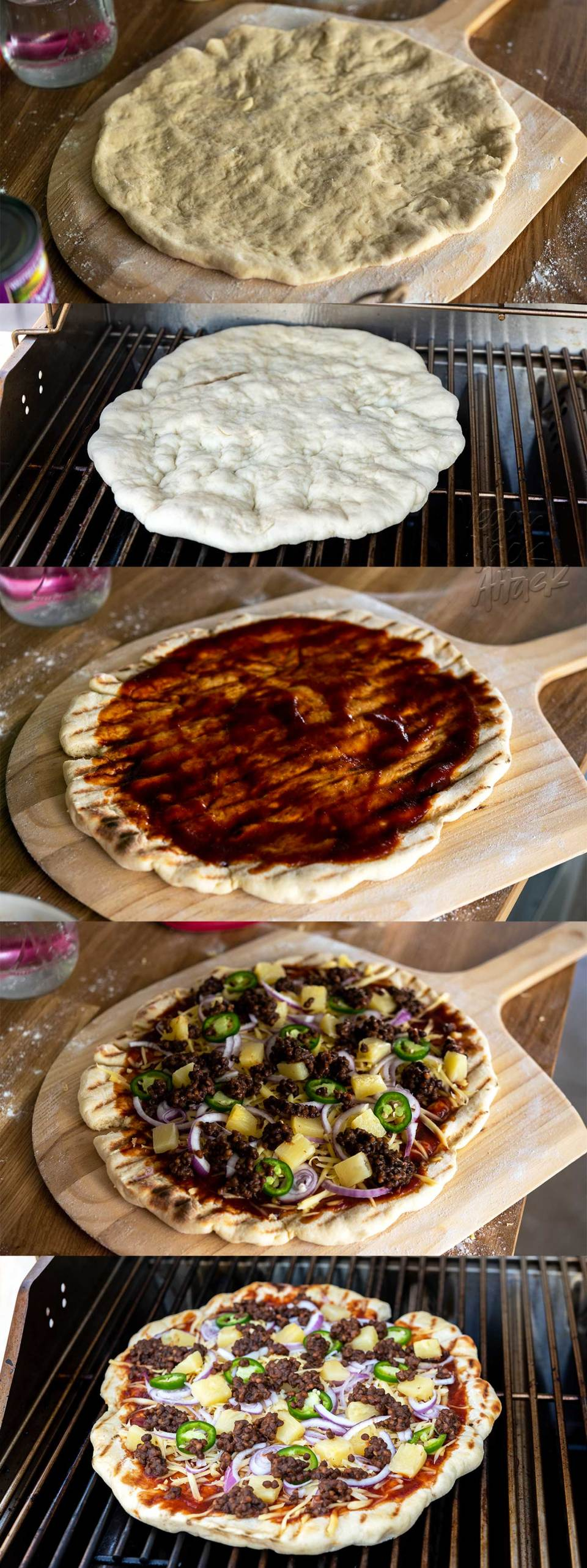 No matter the time of year, pizza always hits the spot! What better way to get your BBQ and pie cravings covered, than with this Grilled BBQ Lentil Pizza? #vegan #soyfree #nutfree