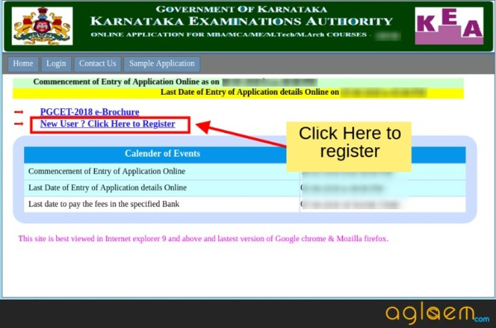 Karnataka PGCET 2019 Application Form