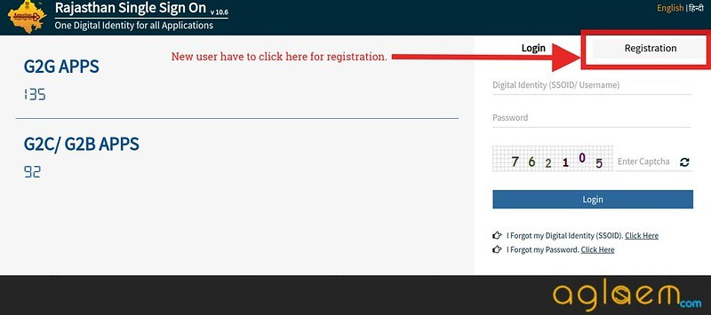 Registration through SSO portal