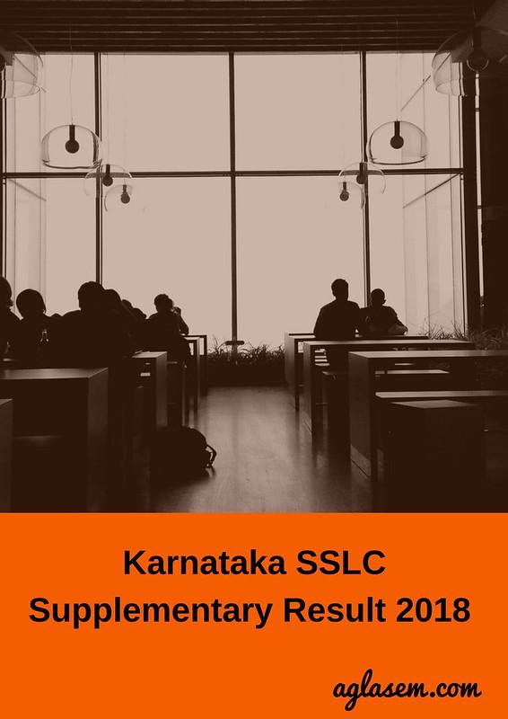 Karnataka SSLC Supplementary Result 2018