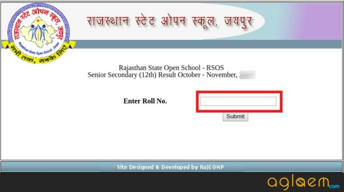 Rajasthan Open School Result