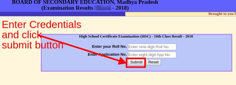 MP Board 10th Supplementary Result 2018