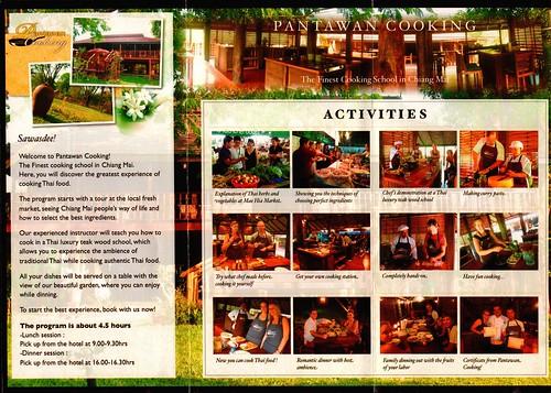 Brochure Pantawan Cooking Chiang Mai Thailand 2