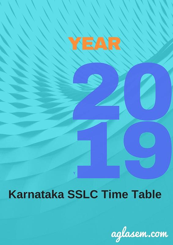 Karnataka SSLC time table 2019