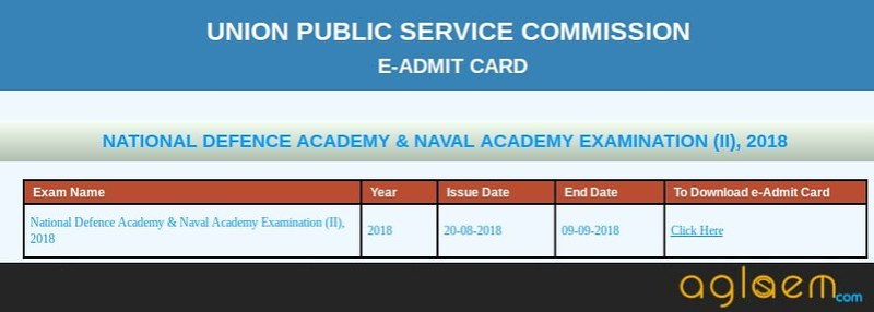 Image of admit card downloading window