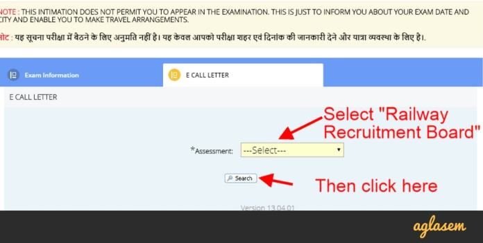 RRB Group D Admit Card 2018
